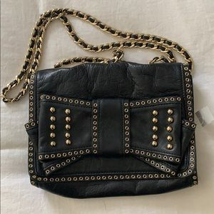 Rebecca Minkoff leather studded bow purse